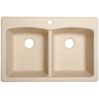 Franke EDCH33229-1 Durable Granite Undermount/Self-Rimming Double Bowl Sink