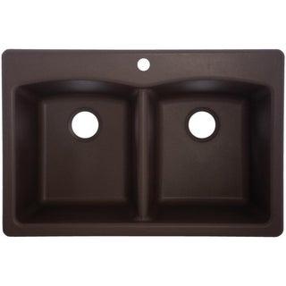 Durable EDDB33229-1 Granite Undermount/Self-Rimming Double Bowl Sink