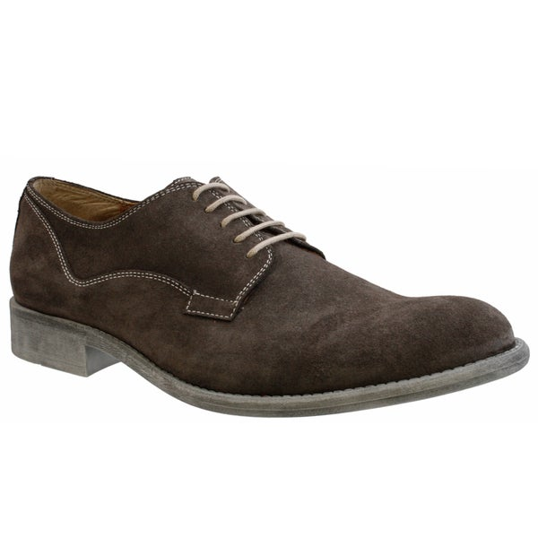 GBX Men's Brown Suede Oxfords