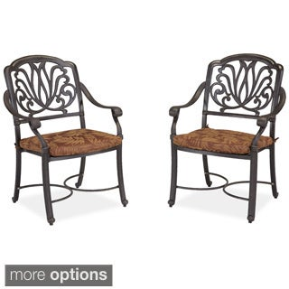 Floral Blossom Arm Chair Pair with Cushion