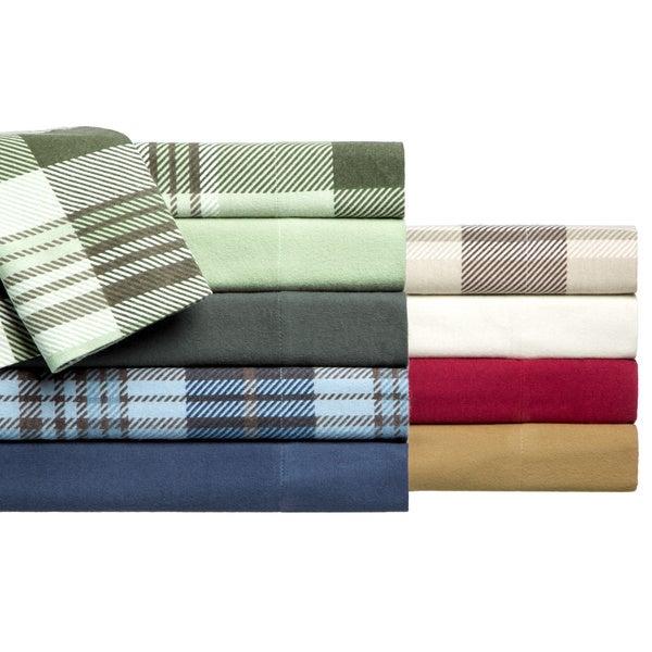 Winter Nights Cotton Flannel Sheet Set
