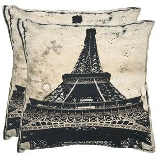 Safavieh Paris 18-inch Antiqued Sandstone Decorative Pillows (Set of 2)