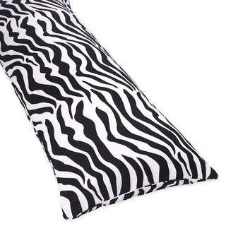 Sweet Jojo Designs Microsuede Zebra Animal Print Full-length Double Zippered Body Pillow Cover