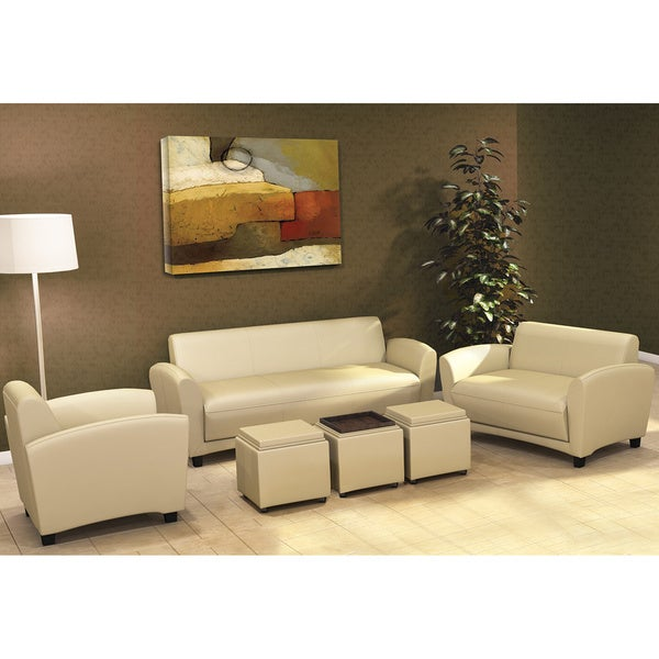 Mayline Santa Cruz Series Occasional Faux Leather Sofa