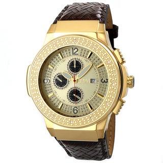 JBW Men's Stainless Steel 'Saxon Gold' Diamond Watch