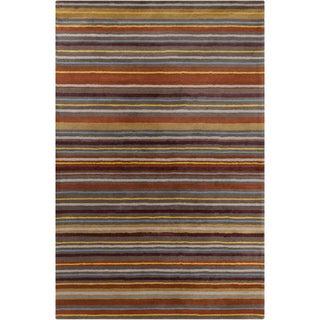 Allie Handmade Stripes Wool Rug (5' x 7'6)
