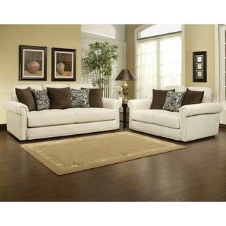 Furniture of America Sholin Micro Denier Sofa/Loveseat Set