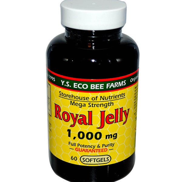YS Eco Bee Farms Organic Royal Jelly 1000 mg (60 Softgels)