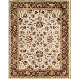 Alliyah Rugs Vanilla Wool Rug (10' x 14')