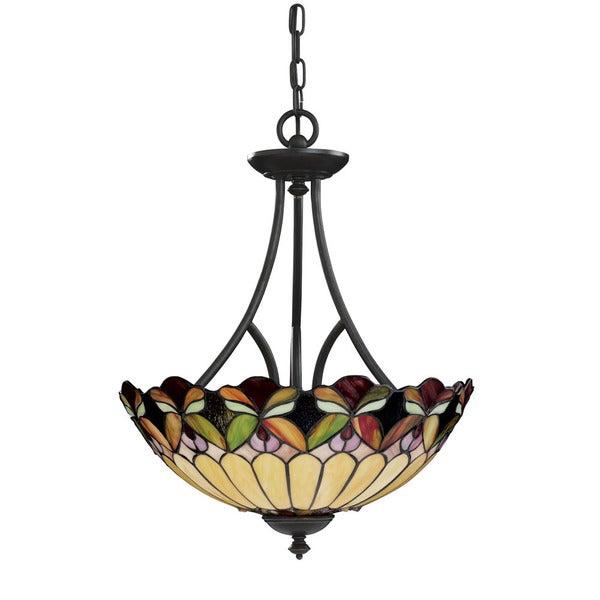 Tiffany style 3-light Bronze Pendant Light Fixture