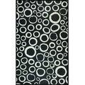 Somette Black and White Circles Mat (36 x 60)