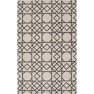 Hand-tufted Krebs Moroccan Tile Wool Rug (8' x 11')