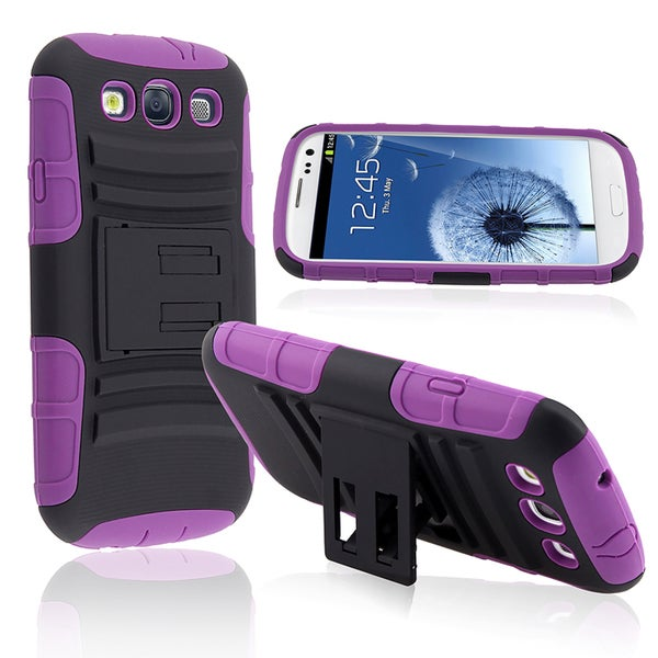 BasAcc Hybrid Case with Stand for Samsung© Galaxy SIII/ S3