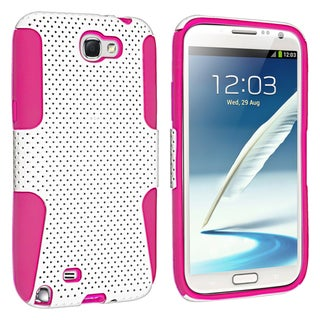 BasAcc Hot Pink/ White Hybrid Case for Samsung� Galaxy Note II N7100