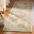 Handmade Diamonds Bakhtiari Light Blue/ Light Brown Wool Rug
