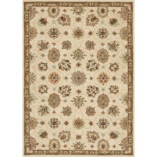 Hand-tufted Wilson Ivory/ Taupe Wool Rug