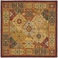 Safavieh Handmade Diamond Bakhtiari Multi/ Red Wool Rug (10' Square)