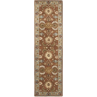 Safavieh Handmade Heritage Darab Brown/ Blue Wool Rug (2'3 x 20')