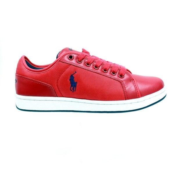 Ralph Lauren Men's 'Trevose' Red Low-Top Sneakers