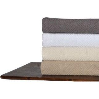Tommy Hilfiger Herringbone Cotton Blanket