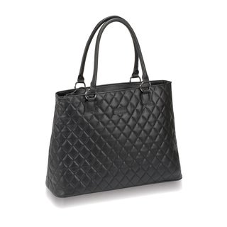 Solo Women's Classic Diamond Pattern 16-inch Laptop Tote