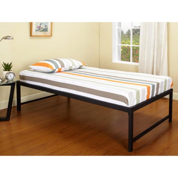 K&B B39-1-2 Hi Riser Bed with Black Metal Frame