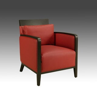 Elloise Red Leather Club Chair
