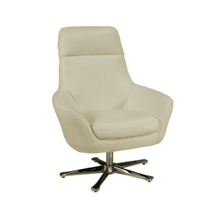 Ellejoyce White Leather Club Chair
