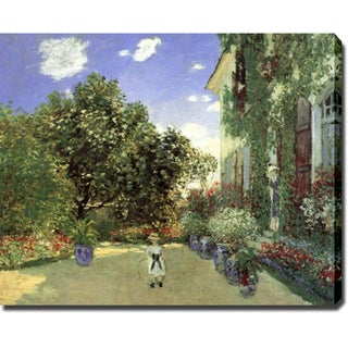 Claude Monet 'The Artists House At Argenteuil' Gallery-wrapped Canvas Art