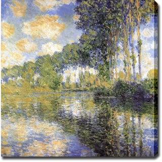 Claude Monet 'Poplars on the Epte' Oil on Canvas Art