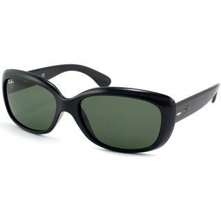 Ray-Ban Women's RB4101 Jackie Ohh Shiny Black Sunglasses