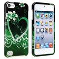 BasAcc Green Heart Snap-on Case for Apple iPod Touch 5th Generation
