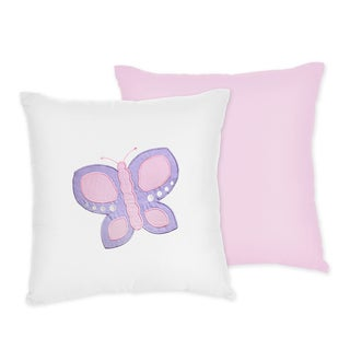 Sweet JoJo Designs Pink Butterfly Throw Pillow
