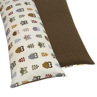 Sweet JoJo Designs Night Owl Reversable Full Length Double Zippered Body Pillow Case Cover