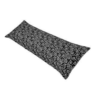 Sweet Jojo Designs Madison Scroll Print Full Length Double Zippered Body Pillow Case Cover