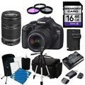 Canon EOS Rebel T3 Digital SLR Camera with 18-55mm IS II &amp; 55-250 IS II Lens Bundle