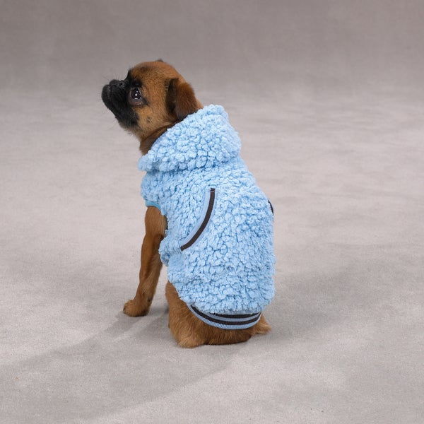 Casual Canine Blue Snowbaby Hooded Pet Sweater