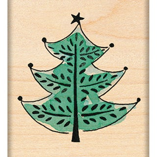 """Penny Black Mounted Rubber Stamp 1.75""""X1.75""""-Festive Tree"""