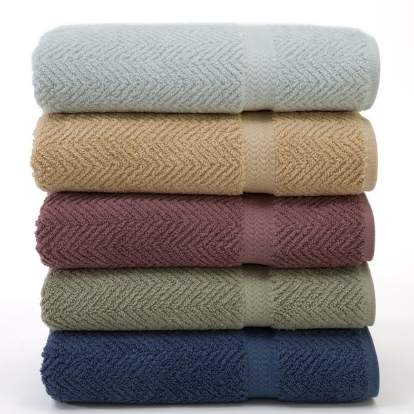 Authentic Herringbone Weave Hotel and Spa Turkish Cotton Bath Sheet