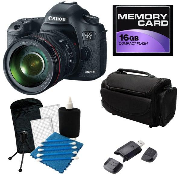 Canon EOS 5D Mark III Digital SLR Camera with 24-105 IS Lens Bundle