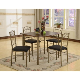 Azura 5-piece Brass Dining Set