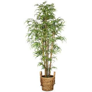 Laura Ashley Silk Bamboo Tree with Basket Planter