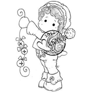 A Christmas Story Cling Stamp-Jingle Jangle Tilda