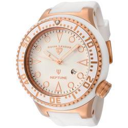 Swiss Legend Men's Neptune White Dial White Silicone Watch