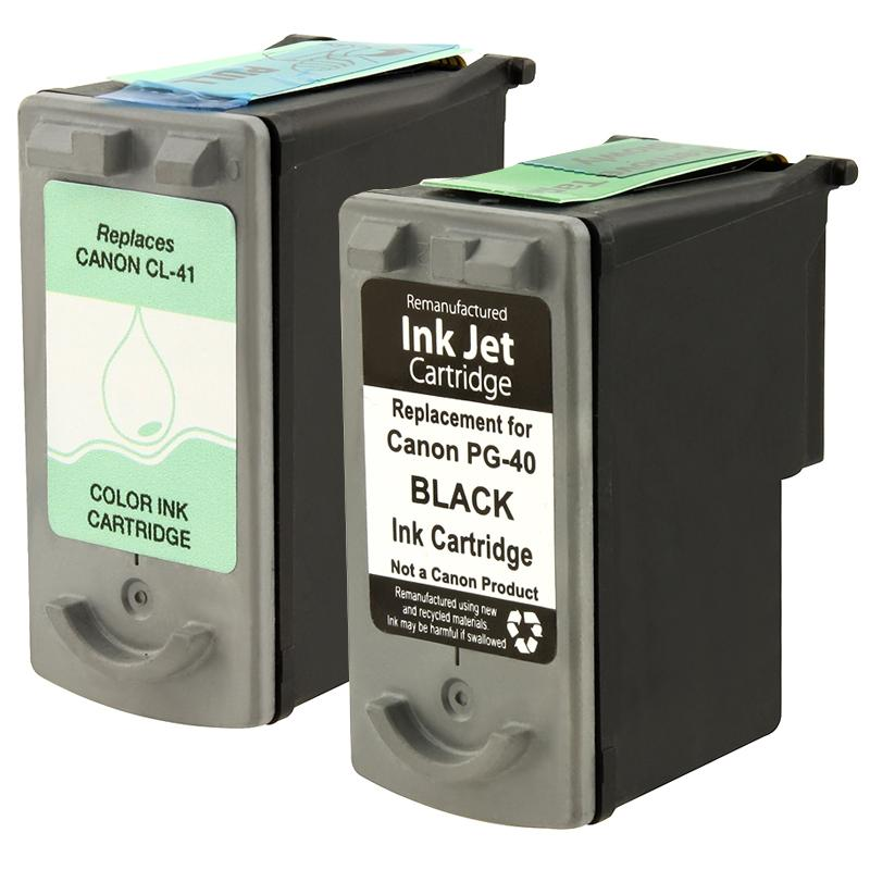 Canon CL-41 PG-40 Black Ink (Remanufactured)