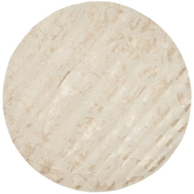 Safavieh Handmade Soho Ivory New Zealand Wool Rug (6' Round)