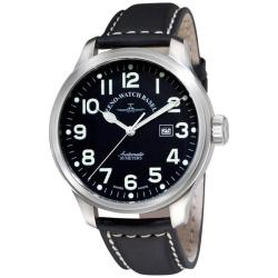 Zeno Men's 'XL Pilot' Black Strap Automatic Watch