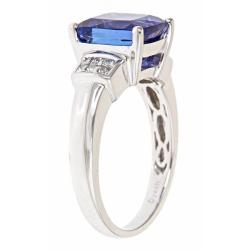 D'Yach 14k White Gold Tanzanite and 1/4ct TDW Diamond Ring (G-H, I1-I2)
