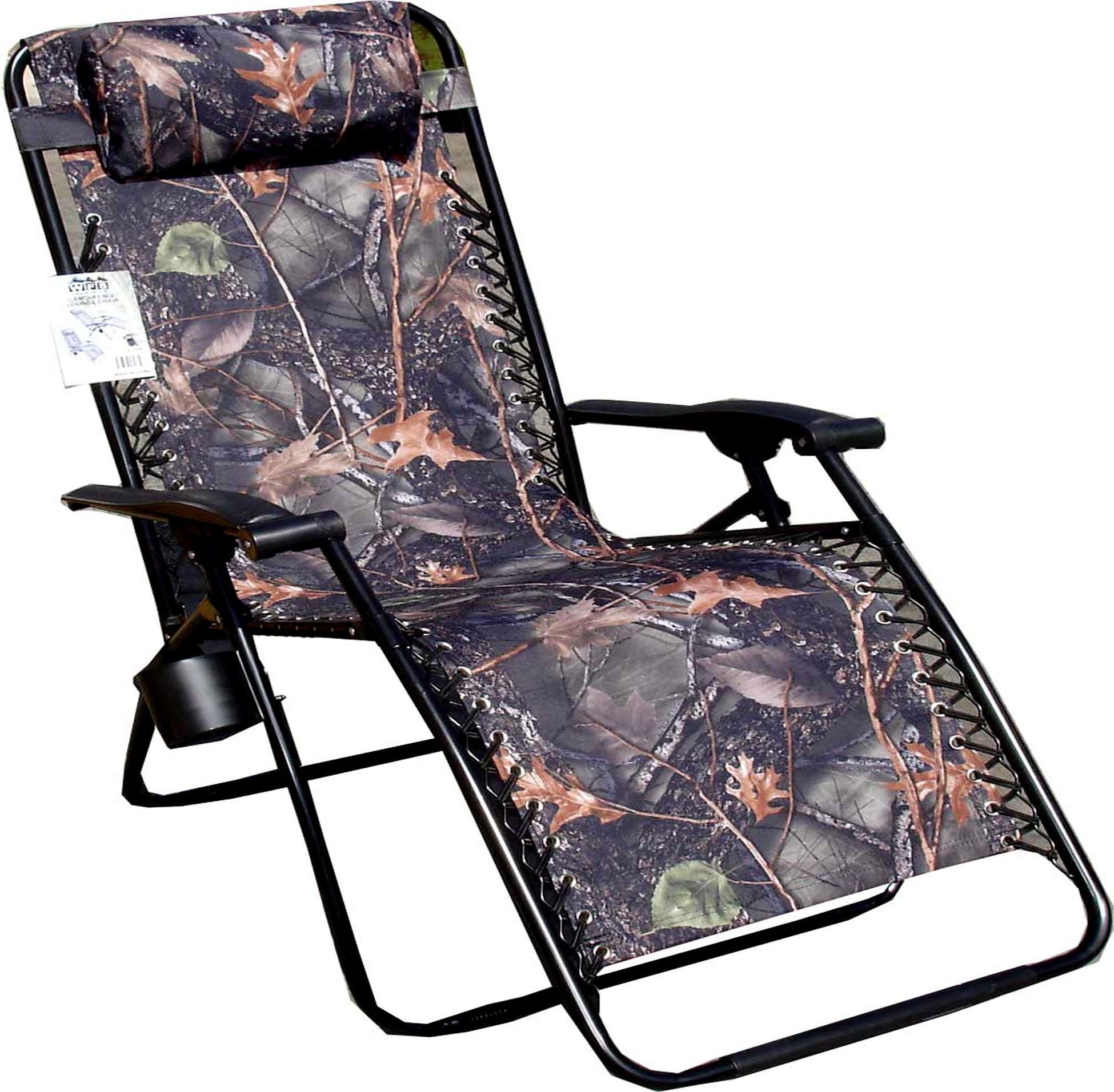 Jumbo Camo Zero Gravity Reclining Camp Chair