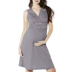 Lilac Clothing's Women's 'Katherine' Grey Maternity Dress